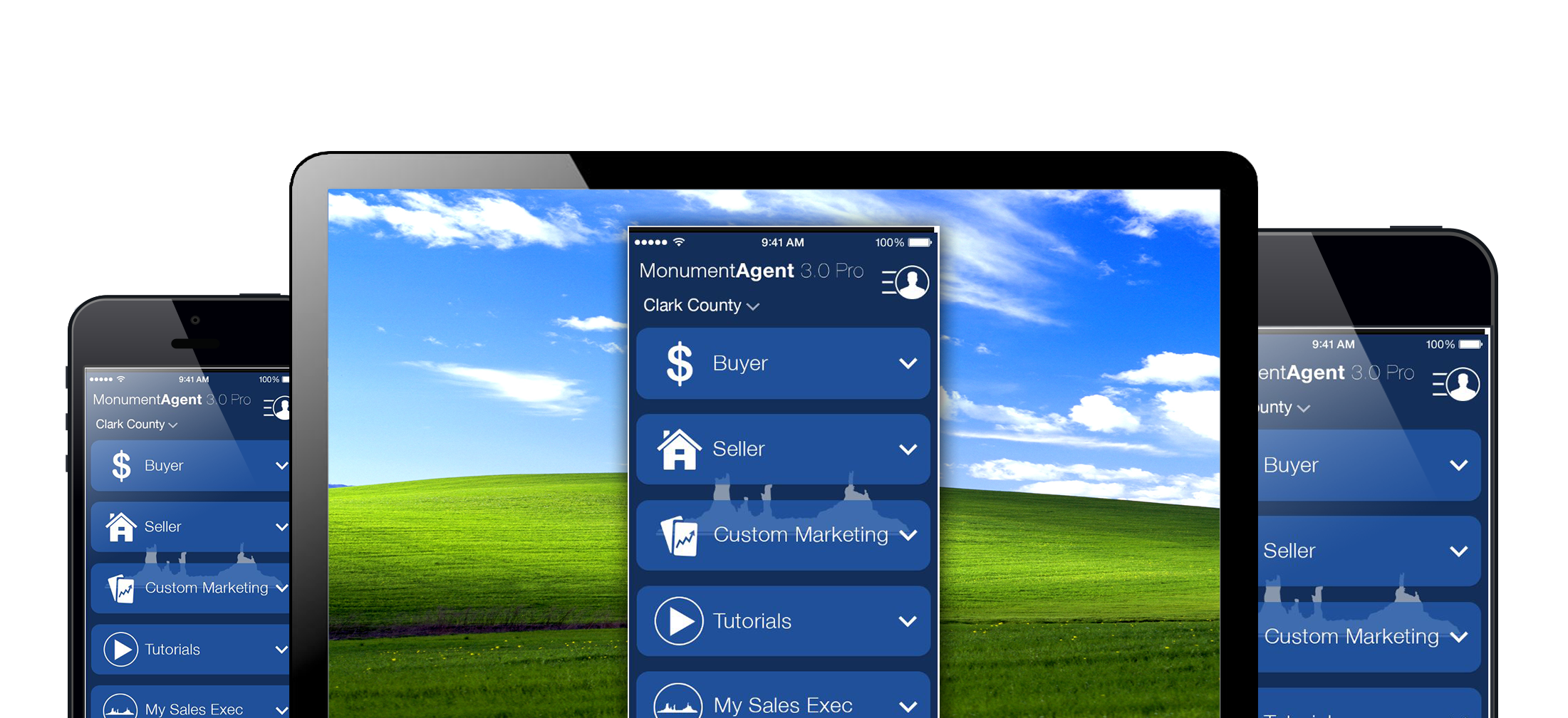 Real Estate Agent app on screens